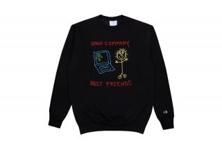 <img class='new_mark_img1' src='https://img.shop-pro.jp/img/new/icons5.gif' style='border:none;display:inline;margin:0px;padding:0px;width:auto;' />(The Good Company) BEST FRIENDS CREWNECK - BLACK/MULTICOLOR