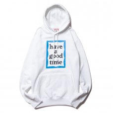 <img class='new_mark_img1' src='https://img.shop-pro.jp/img/new/icons5.gif' style='border:none;display:inline;margin:0px;padding:0px;width:auto;' />(have a good time) BLUE FRAME PULLOVER HOODIE - WHITE