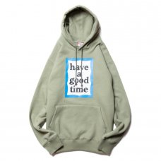 <img class='new_mark_img1' src='https://img.shop-pro.jp/img/new/icons5.gif' style='border:none;display:inline;margin:0px;padding:0px;width:auto;' />(have a good time) BLUE FRAME PULLOVER HOODIE - SAGE