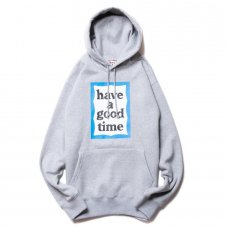 <img class='new_mark_img1' src='https://img.shop-pro.jp/img/new/icons5.gif' style='border:none;display:inline;margin:0px;padding:0px;width:auto;' />(have a good time) BLUE FRAME PULLOVER HOODIE - HEATHER GRAY