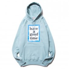 <img class='new_mark_img1' src='https://img.shop-pro.jp/img/new/icons5.gif' style='border:none;display:inline;margin:0px;padding:0px;width:auto;' />(have a good time) BLUE FRAME PULLOVER HOODIE - BLUE STONE