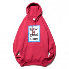 <img class='new_mark_img1' src='https://img.shop-pro.jp/img/new/icons5.gif' style='border:none;display:inline;margin:0px;padding:0px;width:auto;' />(have a good time) BLUE FRAME PULLOVER HOODIE - CHERRY
