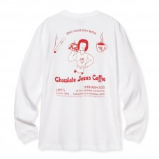 <img class='new_mark_img1' src='https://img.shop-pro.jp/img/new/icons5.gif' style='border:none;display:inline;margin:0px;padding:0px;width:auto;' />(Chocolate Jesus Coffee) RONA L/S TEE - WHITE