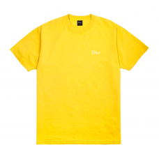 (Dime MTL) DIME CLASSIC SMALL LOGO T-SHIRT - YELLOW