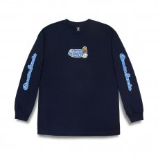 <img class='new_mark_img1' src='https://img.shop-pro.jp/img/new/icons5.gif' style='border:none;display:inline;margin:0px;padding:0px;width:auto;' />(QUARTER SNACKS) MIDDLE SCHOOL LONGSLEEVE TEE - NAVY
