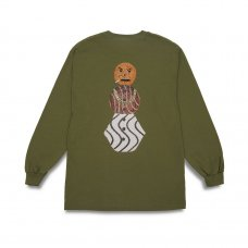 <img class='new_mark_img1' src='https://img.shop-pro.jp/img/new/icons5.gif' style='border:none;display:inline;margin:0px;padding:0px;width:auto;' />(QUARTER SNACKS) SNACMAN LONGSLEEVE TEE - OLIVE