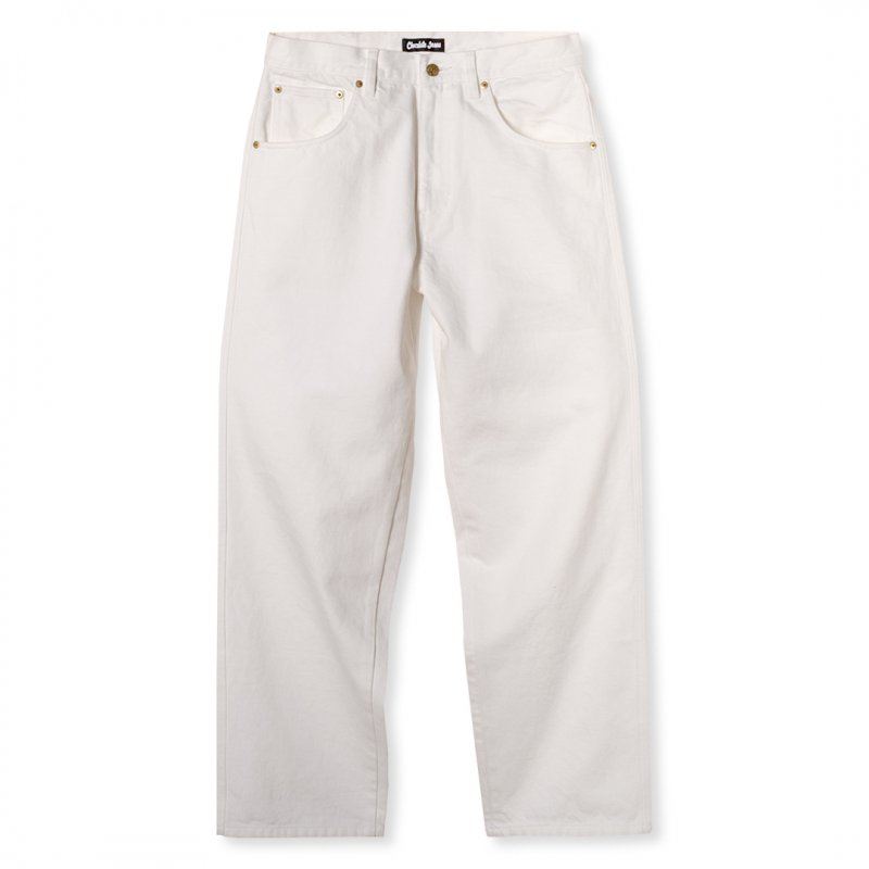 <img class='new_mark_img1' src='https://img.shop-pro.jp/img/new/icons5.gif' style='border:none;display:inline;margin:0px;padding:0px;width:auto;' />(Chocolate Jesus) CJ DENIM PANT - WHITE