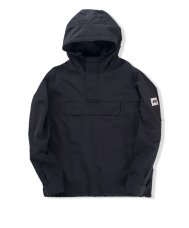 NYLON PULLOVER JACKET - BLACK