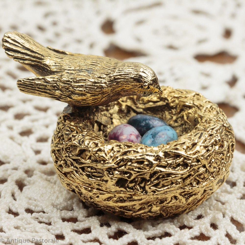 ヴィンテージ マックスファクター 小鳥の巣と玉子の練香水入れ 1960's - 70's