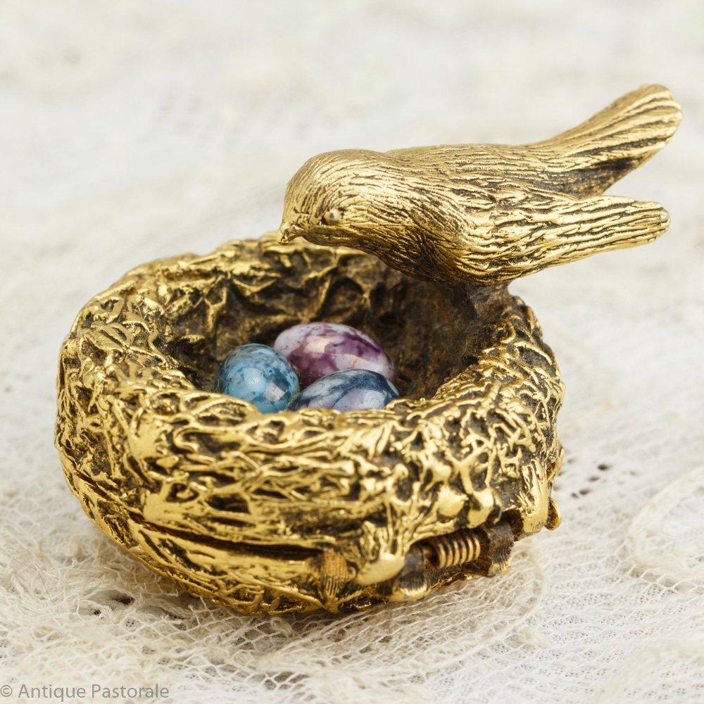 ヴィンテージ マックスファクター 小鳥の巣と玉子の練香水入れ 1960's - 70's その2
