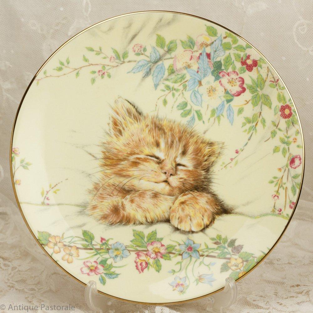 ロイヤルウースター CatNap ねこの昼寝 かわいらしい飾り皿 保証書付き