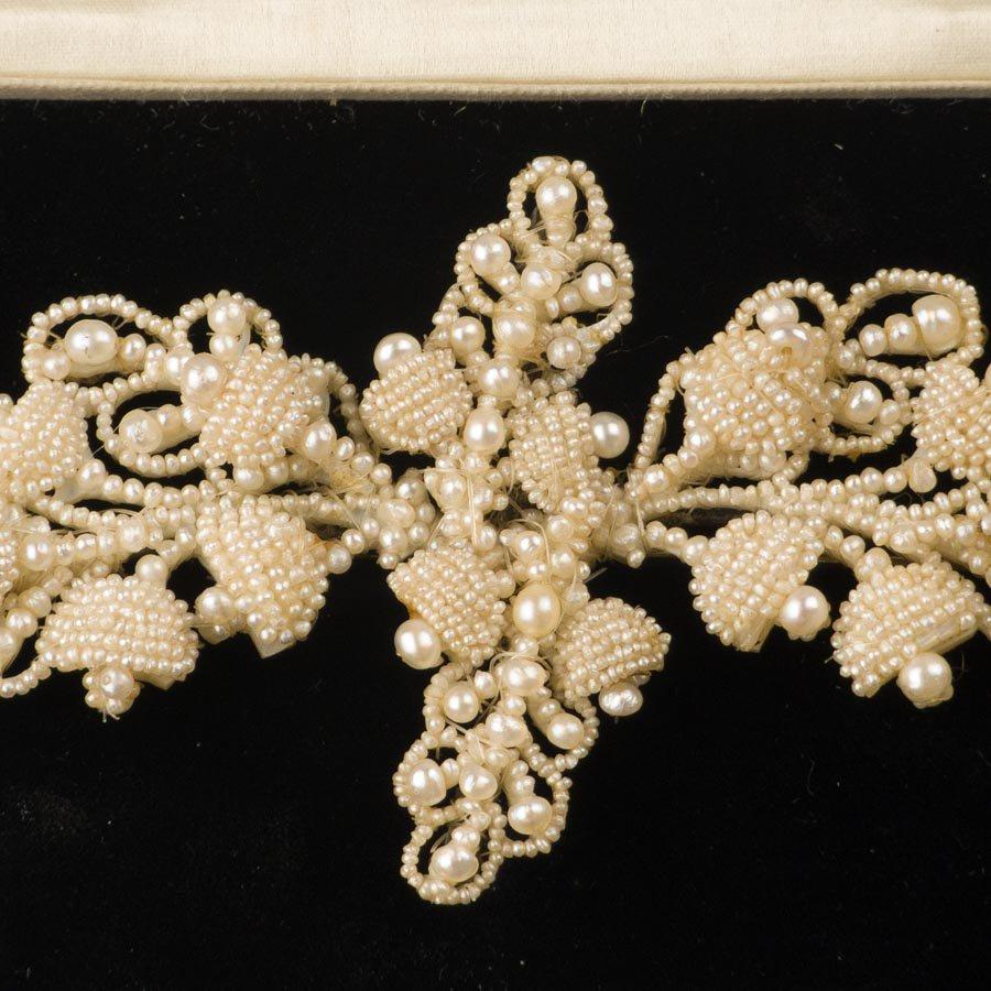 アンティーク 天然真珠 シードパール ブローチ コサージュ 1850年頃