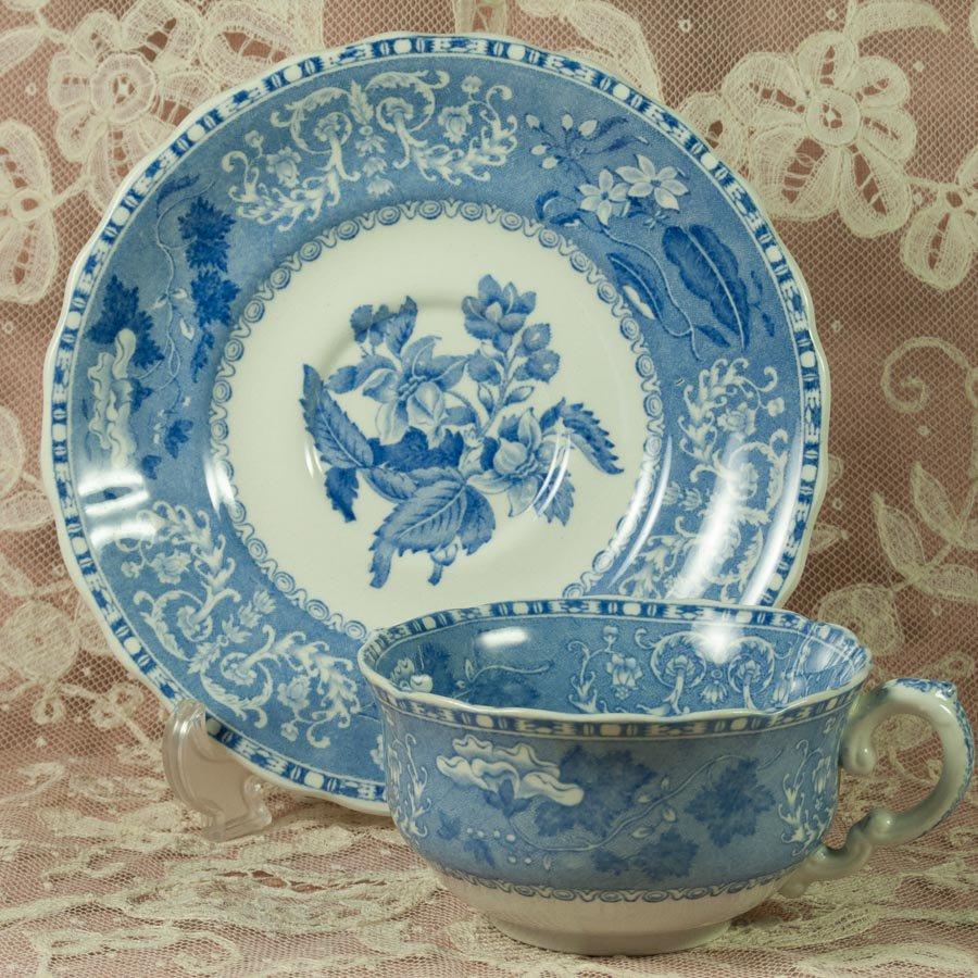 OLDマーク  スポード  カミラCamilla ブルー&ホワイト  ブルー&ホワイト カップ&ソーサー