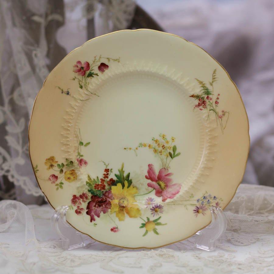 Rpyal Worcester ロイヤルウースター 草花の飾り皿 コスモス