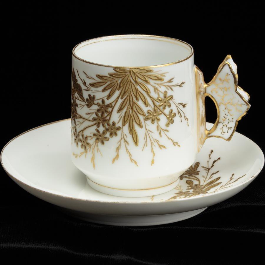 Limoges Charles Field Haviland アビランド リモージュ 蝶々ハンドルのカップ&ソーサー