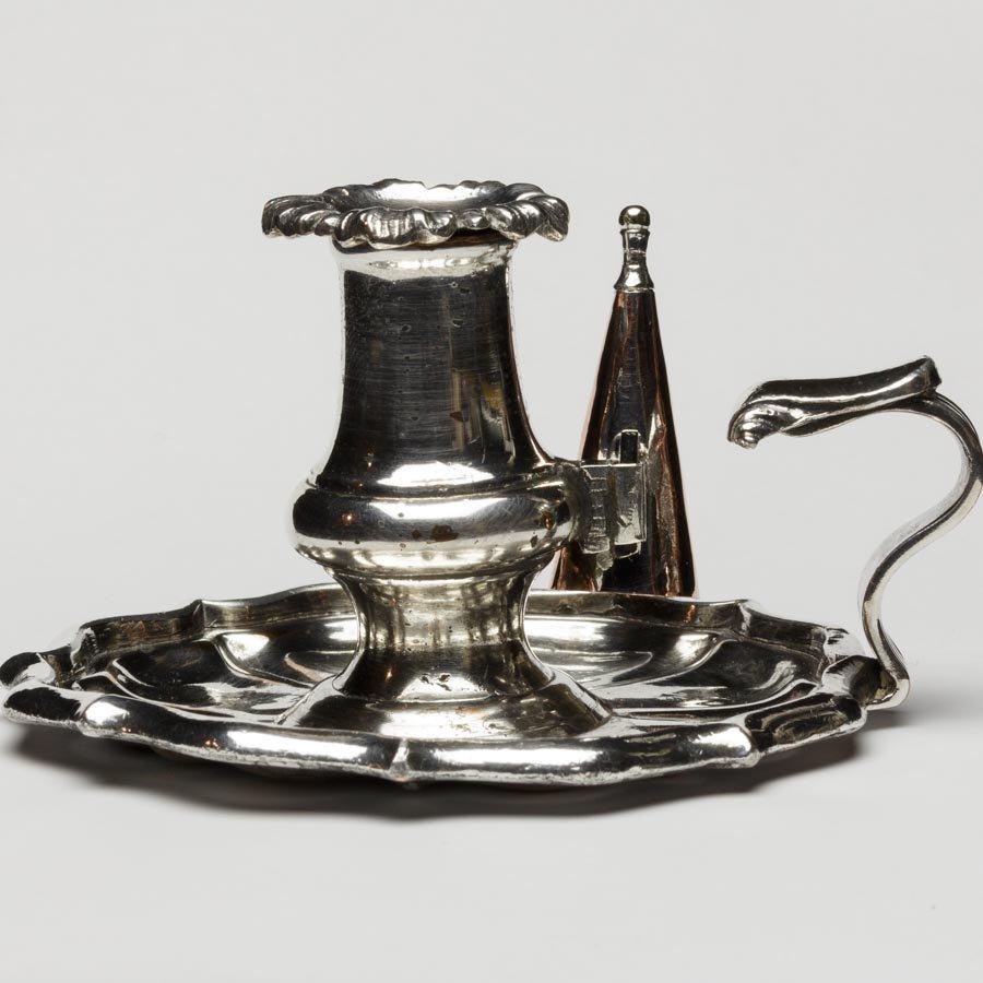 ジョージアン 1820年代 シルバープレート キャンドルホルダー&ろうそく消し