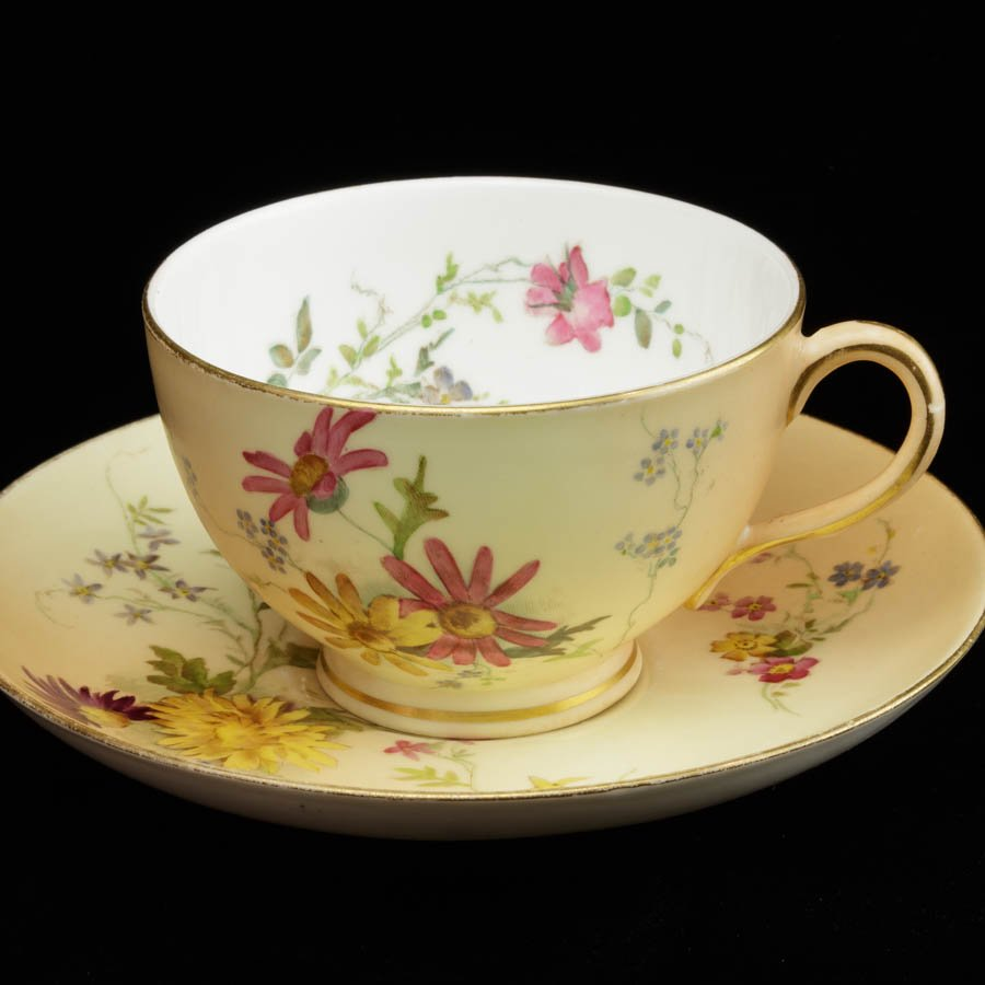 ロイヤルウースター 草花のカップ&ソーサー B