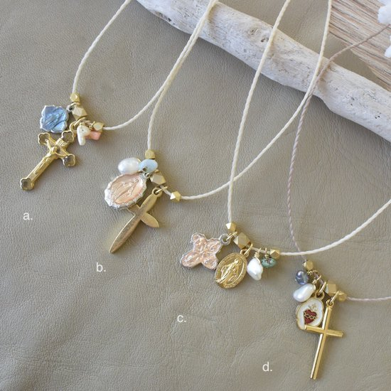 〈Medal&Cross Necklace a.〜d.〉