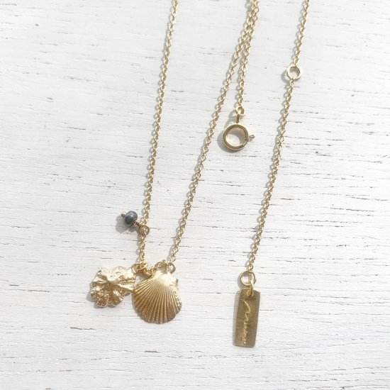 〈Cast of real ocean〉W shell-Necklace