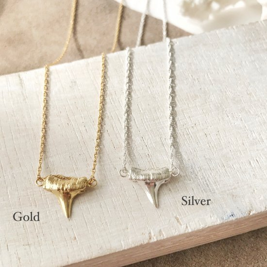 〈Cast of real ocean〉Shark tooth-Gold or Silver