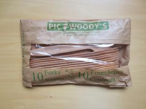 木製カトラリー フォークXナイフ 10本セット