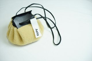 Aetaアエタ Shoulder Pouch M /Beige:Black/