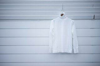 Phlannelフランネル Suvin Cotton Turtleneck T-Shirt/White