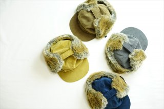comesandgoesカムズアンドゴーズ /Corduroy Ear Cap/Camel/Brown/Gray/Navy/