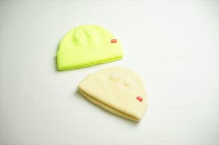 Butter Goodsバターグッズ WHARFIE BEANIE/Safety Yellow/Ivory/