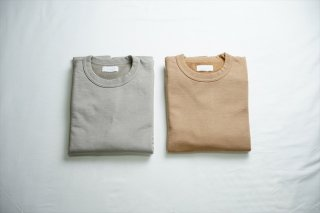 Phlannel(フランネル)Suvin Cotton Sweat Shirt/Irish Gray/Pink Almond/