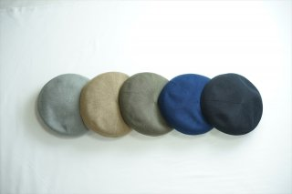 comesandgoes(カムズアンドゴーズ)cotton mesh beret/Gray/Beige/Olive/Navy/Black/