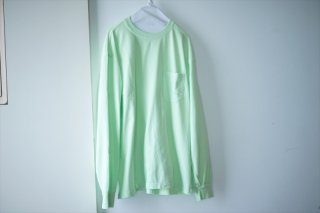 UNUSED/アンユーズド Long Sleeve Pocket T-Shirts/White/Light Green/Fade Black/