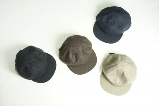 comesandgoes(カムズアンドゴーズ)Suit Fabric Little Brim Cap/Beige/Khaki Brown/Navy/Black/