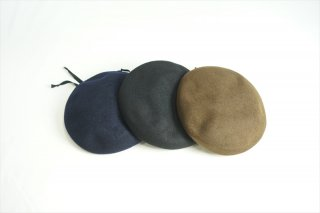 comesandgoes(カムズアンドゴーズ)LEATHER PIPING BERET/Navy/Black/Khaki/