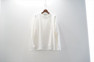 UNUSED(アンユーズド) L/S Crew Neck Tee/White