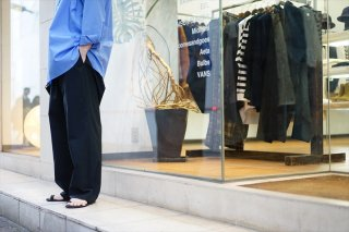 Graphpaper(グラフペーパー)Stretch Typewriter Wide Cock Pants/Navy/Black/