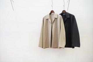 AURALEE(オーラリー)Wool Silk Tropical Shirts Jacket/Light Beige/Charcoal Black/