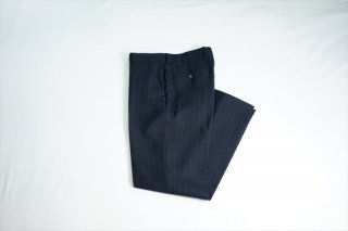 AURALEE(オーラリー)Wool Cupra Linen Cloth Slacks/Navy Stripe
