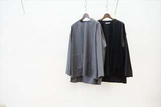 Graphpaper(グラフペーパー)Wide Stripe Wool Pullover/Gray/Black