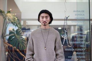 UNUSED(アンユーズド)Cotton/Linen Knit/ Beige/Black
