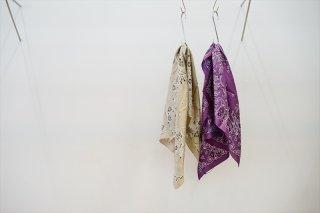 UNUSED(アンユーズド)Silk Bandana/Beige/Purple