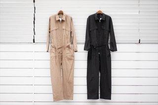 AURALEE(オーラリー)Finx Hard Twist Gabardine Jumpsuit/Brown/Black/