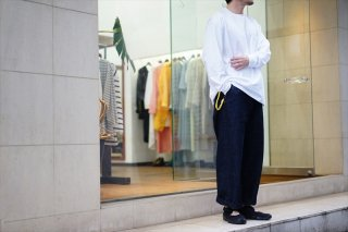 UNIVERSAL PRODUCTS(ユニバーサルプロダクツ)No Tuck Denim Wide Pants/White/Indigo/
