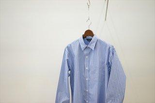 UNUSED(アンユーズド)Stripe Shirt/Blue ST