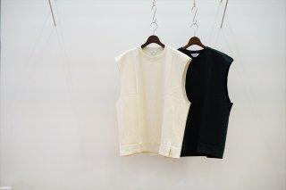 UNUSED(アンユーズド)No Sleeve Tee/Ivory/Black