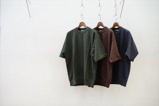 AURALEE(オーラリー)Super High Gauge Sweat Big Tee/Dark Green/Dark Brown/Ink Black/