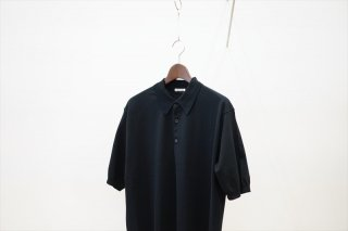 AURALEE(オーラリー)SUPER HARD TWIST HIGH GAUGE KNIT POLO/Black