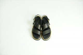 AURALEE(オーラリー)Leather Belt Sandals Made By FOOT THE COACHER/Black