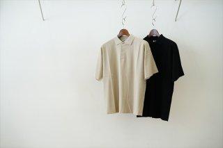 AURALEE(オーラリー)Hard Twist Amunzen Double Cloth Polo/Beige/Black