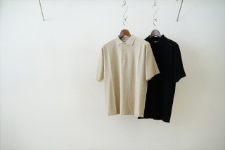 AURALEE(オーラリー)Hard Twist Amunzen Double Cloth Polo/Beige/Black